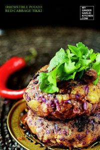 red cabbage tikki